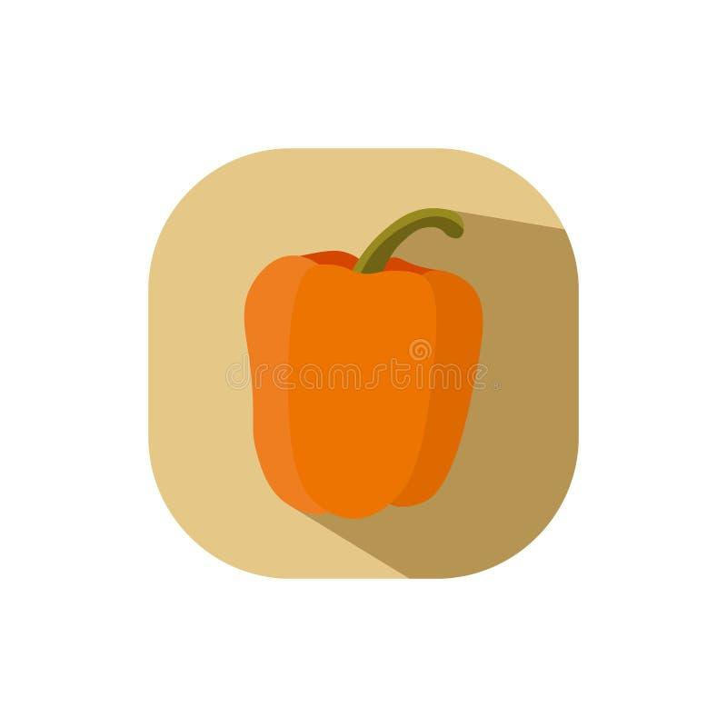 Płaski projekt pomarańcze capsicum ilustracja wektor