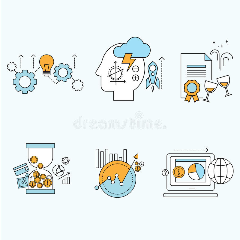 Płaski projekt strony internetowej rozwój, graficzny projekt royalty ilustracja