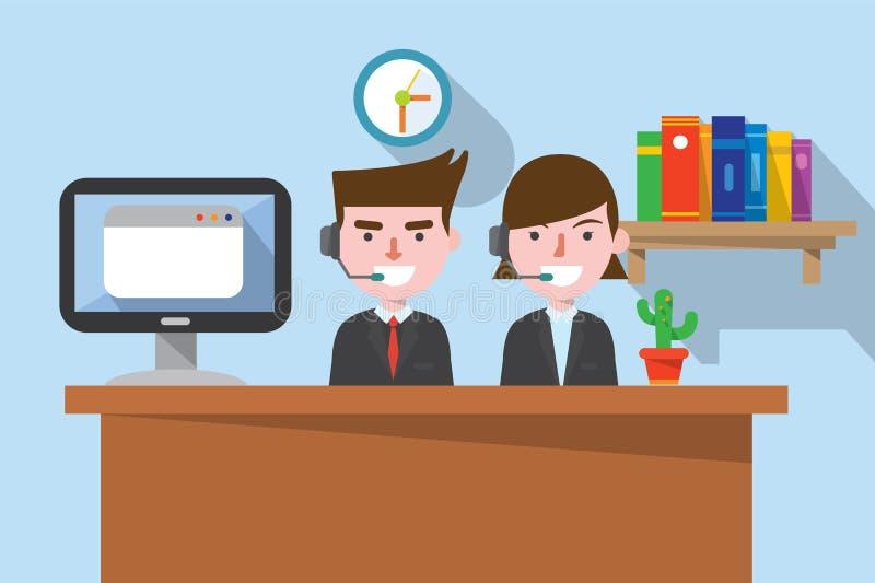 Płaski projekt, telemarketing pojęcia illust ilustracja wektor