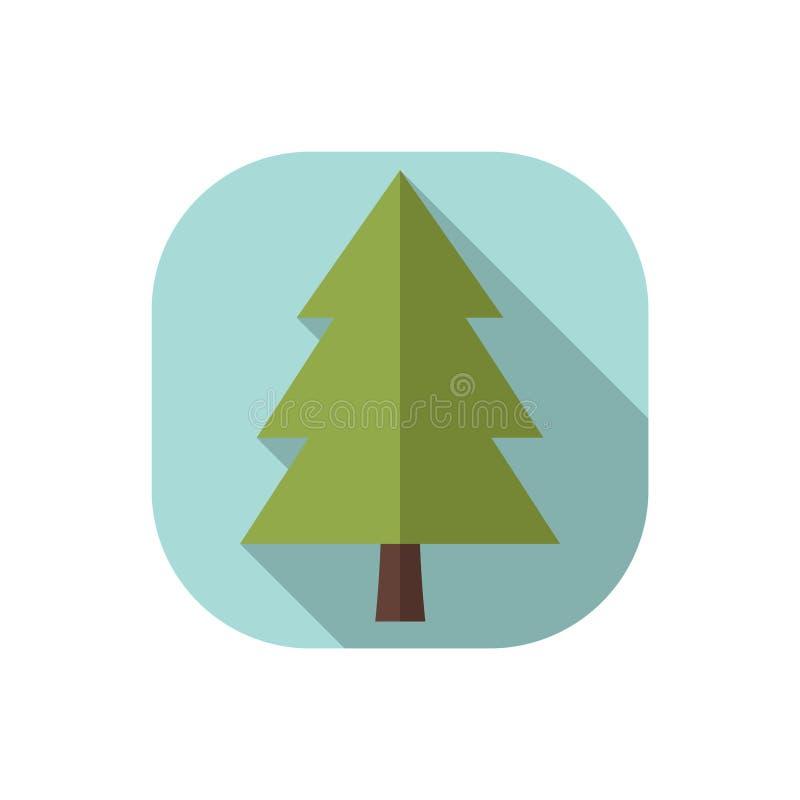 Płaski projekta conifer ilustracji