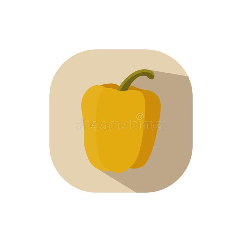 Płaski projekta koloru żółtego Capsicum royalty ilustracja