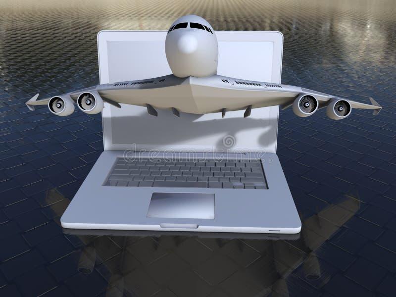 Płaski rejestracyjny laptopu pojęcie royalty ilustracja