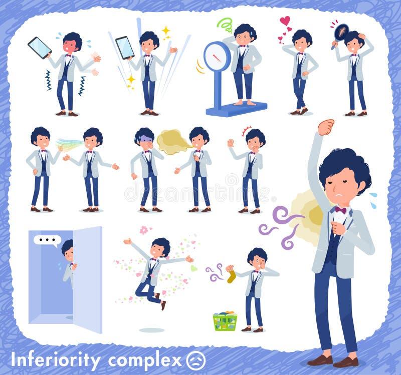 Płaski typ błękitny przypadkowy smokingu men_complex ilustracja wektor