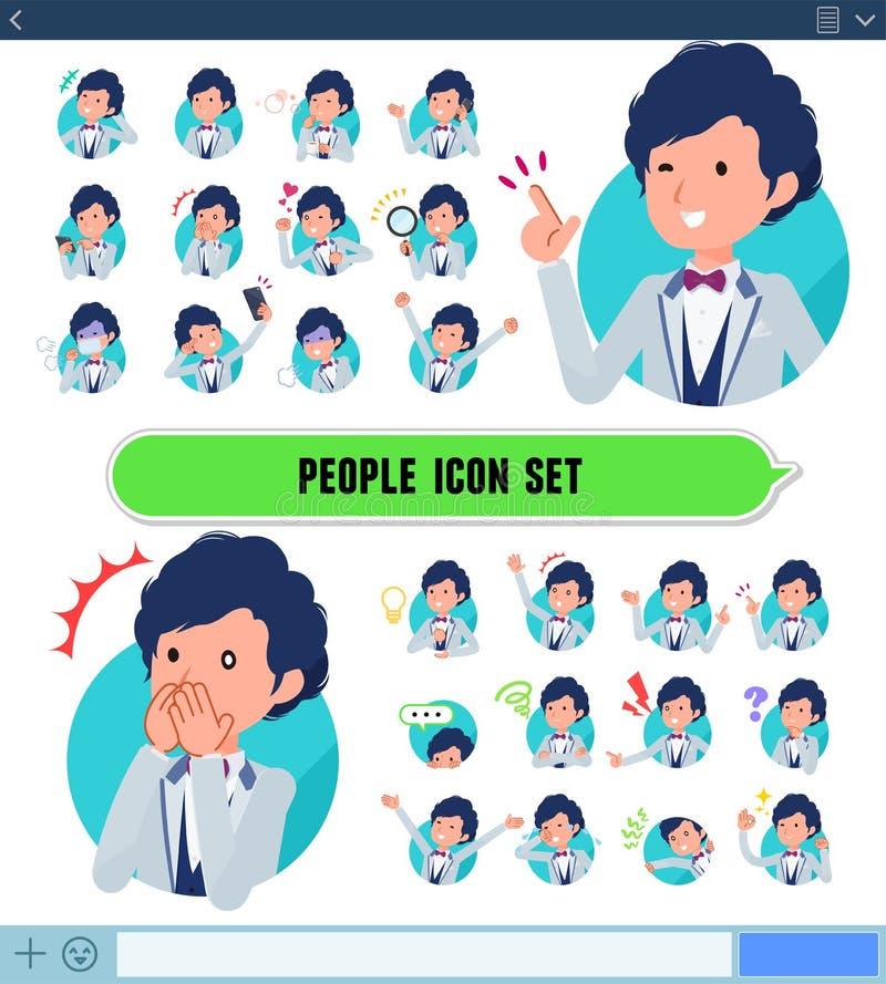 Płaski typ błękitny przypadkowy smokingu men_icon royalty ilustracja