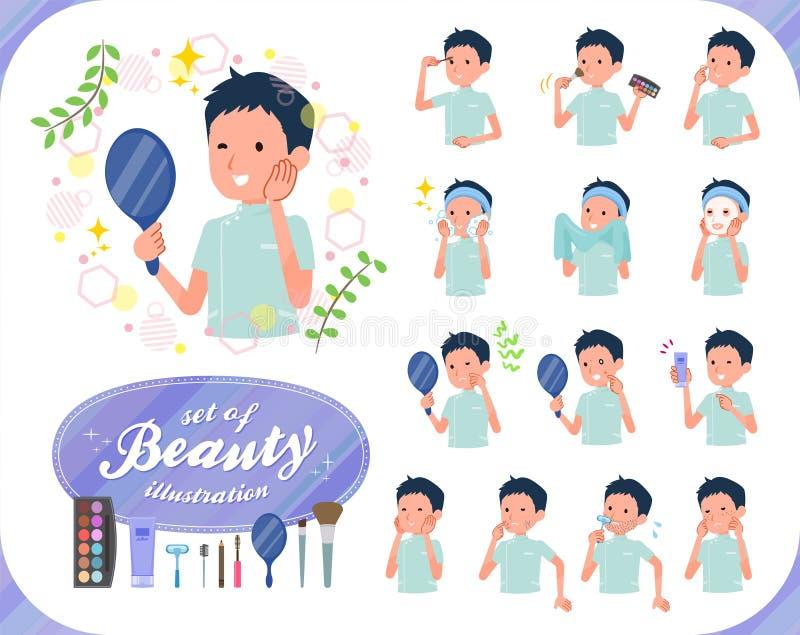 Płaski typ kręgarz men_beauty ilustracji