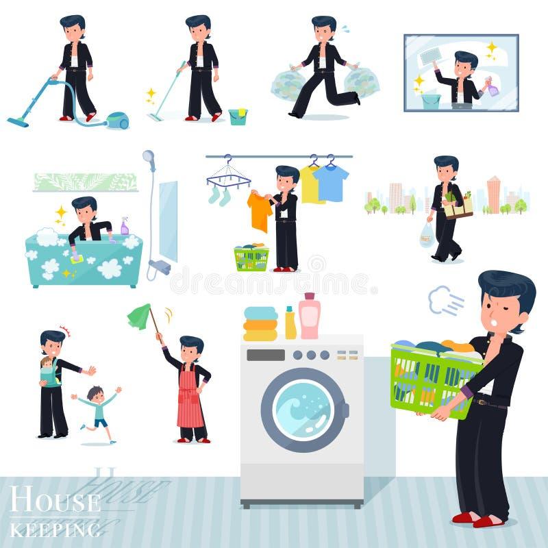 P?aski typ Z?y studencki boy_housekeeping ilustracja wektor