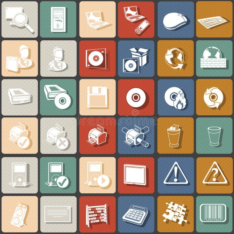 Płaskie ikony 2 ilustracja wektor