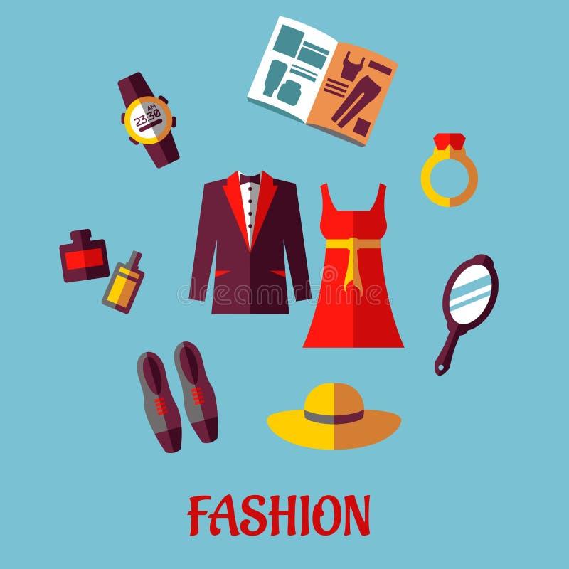 Płaskie mod ikony ilustracji