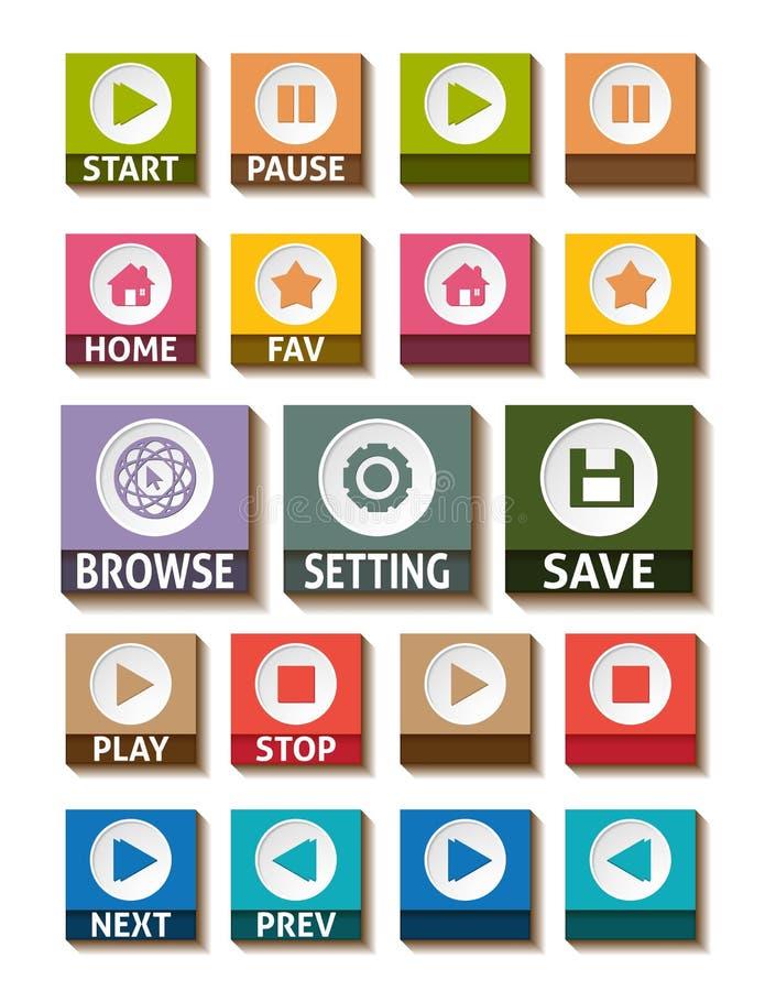 Płaskie projekt ikony dla sieć projekta ilustracja wektor