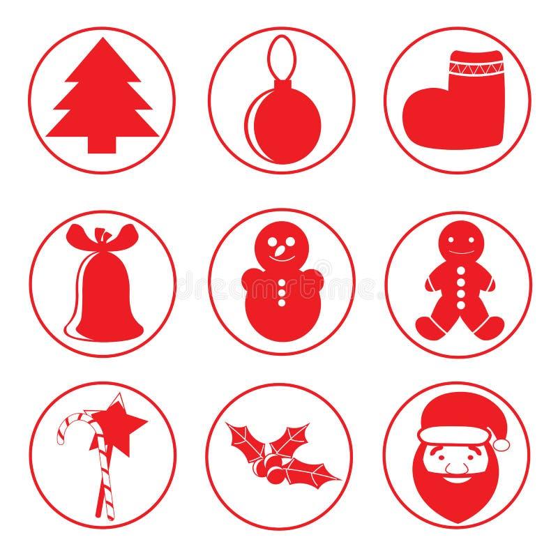 Płaskie round ikony royalty ilustracja