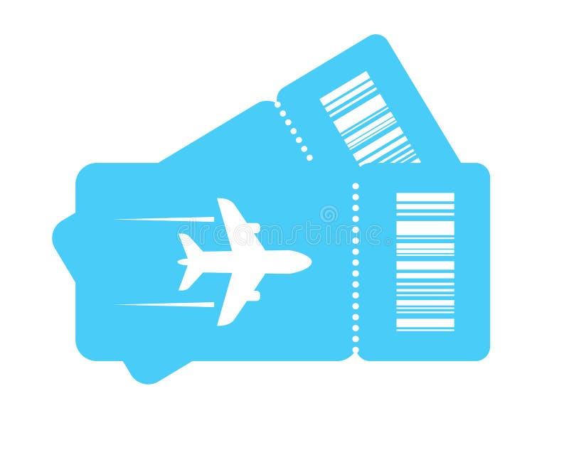 Płaskiego bileta wektoru ikona royalty ilustracja