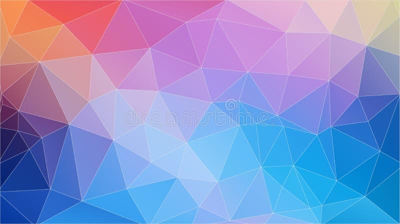 Płaskiego Frash koloru trójboka geometryczna tapeta Horyzontalny wektorowy tło ilustracja wektor