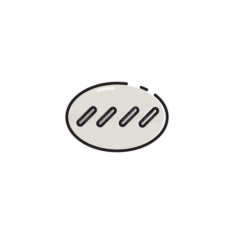 Płaskiego koloru kija serowa ikona ilustracji