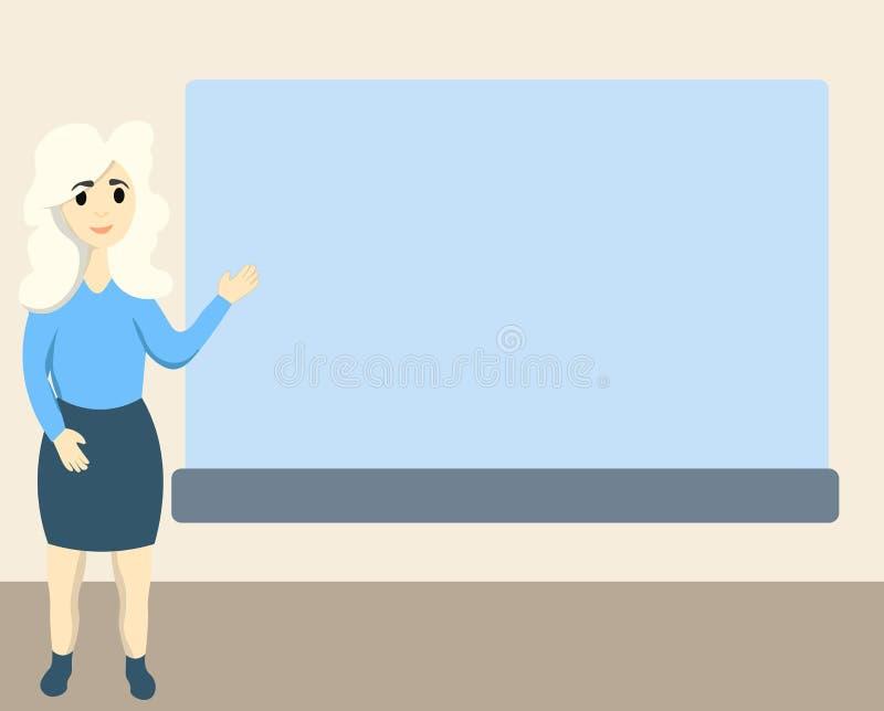 Płaskiego projekta biznesowy wektorowy ilustracyjny pojęcie Biznesowa reklama dla strony internetowej i promoci sztandarów pusta  royalty ilustracja