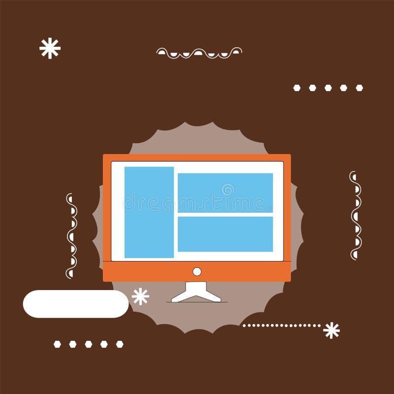 Płaskiego projekta pojęcia kopii przestrzeni biznesowego Wektorowego Ilustracyjnego Pustego nowożytnego abstrakcjonistycznego tła royalty ilustracja