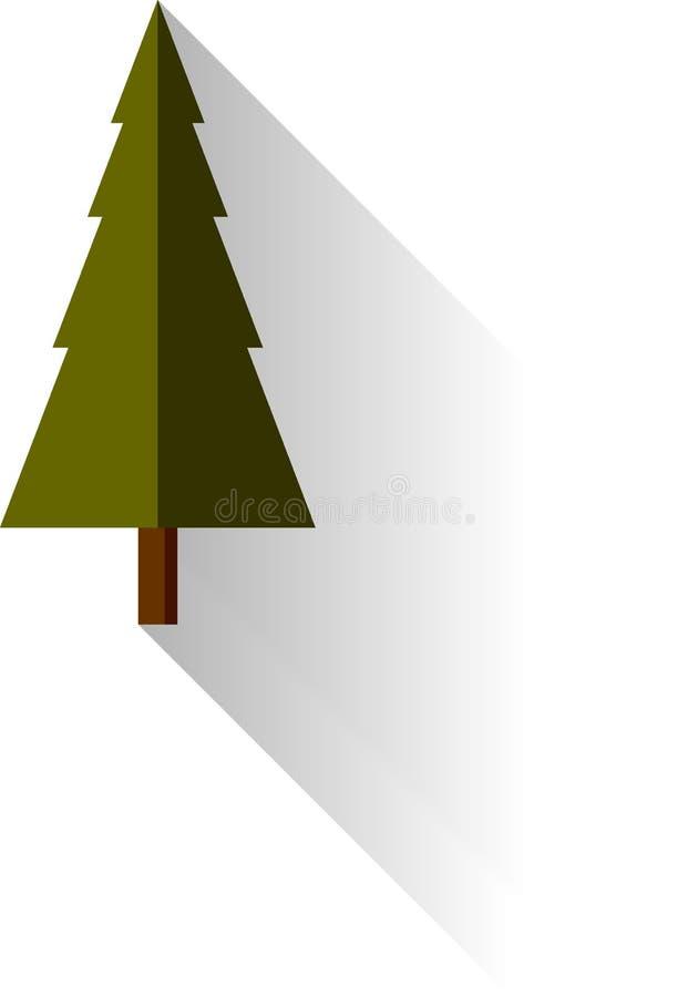 Płaskiego projekta Wektorowa Drzewna ilustracja zdjęcia stock
