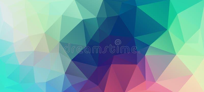Płaskiego rocznika koloru trójboka geometryczna tapeta ilustracji