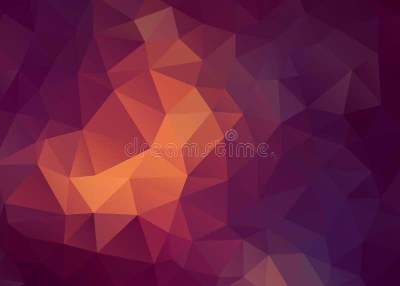 Płaskiego Wektorowego rocznika koloru trójboka geometryczna tapeta ilustracja wektor