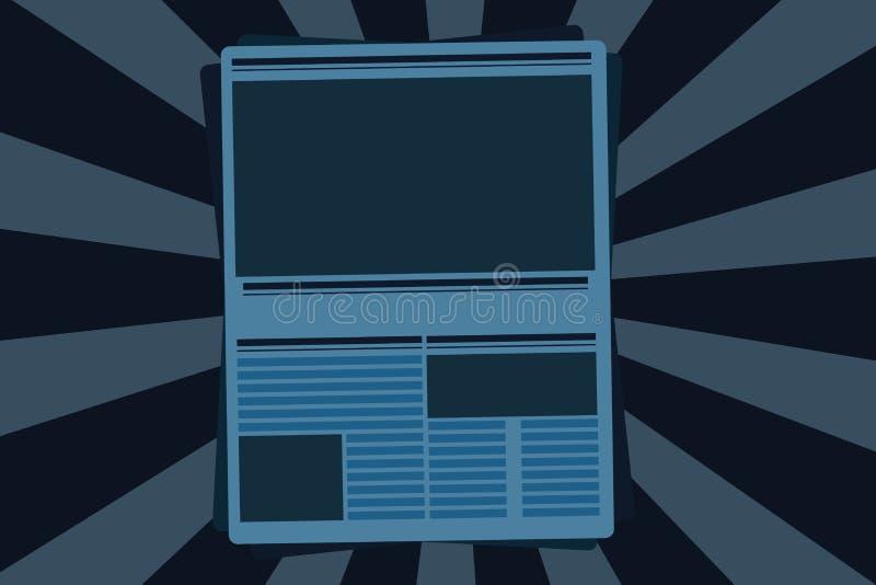 Płaskiej projekt Wektorowej ilustraci szablonu kopii przestrzeni Pusty esp tekst dla reklamy, promocja, plakat, ulotka, sieć szta royalty ilustracja