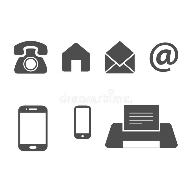 Płaskiej projekt wizytówki ikon wektorowy szablon ilustracja wektor