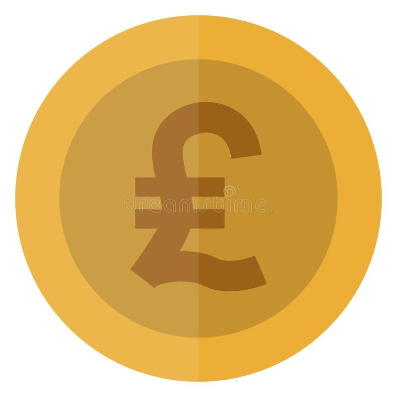 Płaskiej włoskiego lira waluty round moneta Włochy, Europa Kasynowa waluta, uprawia hazard monetę, wektorowa ilustracja odizolowy ilustracja wektor