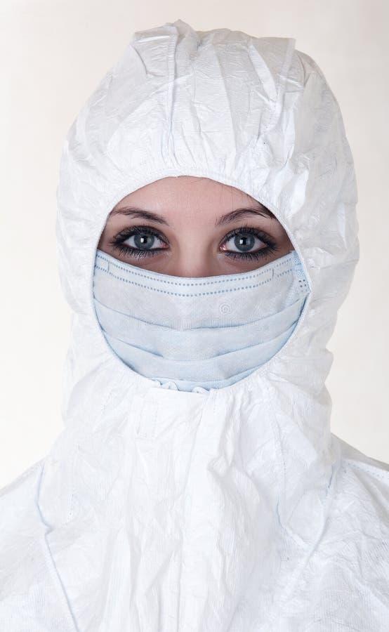 płaszcz maskowa kobieta fotografia stock