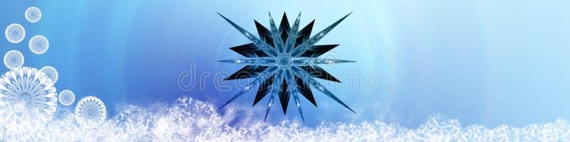 płatek śniegu śnieżna gwiazda ilustracji