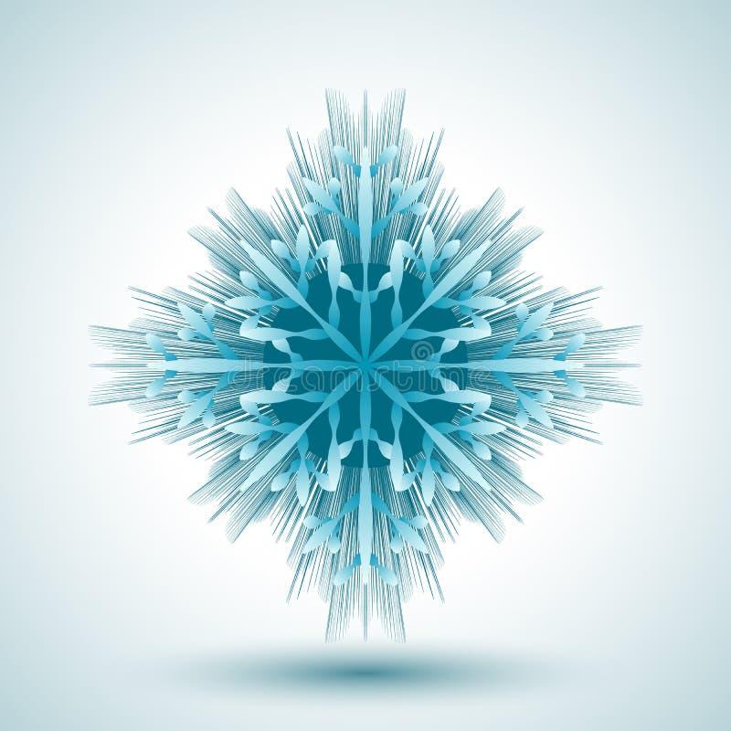 Download Płatek śniegu abstrakcyjne ilustracja wektor. Ilustracja złożonej z grafika - 53784943