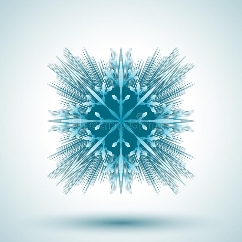 Download Płatek śniegu abstrakcyjne ilustracja wektor. Ilustracja złożonej z abstrakt - 53785145