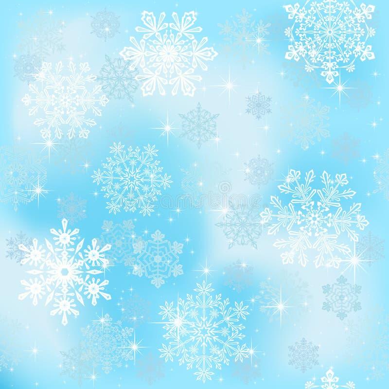 płatek śniegu bezszwowa tapeta ilustracji