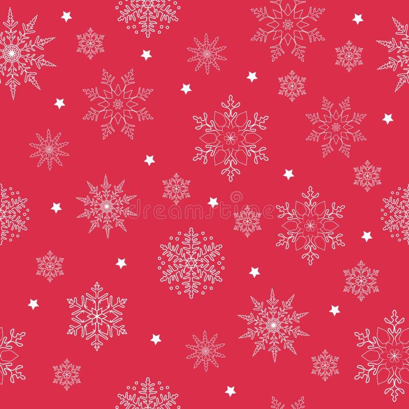 Płatek śniegu bezszwowy wzór dla twój graficznego designe Polek kropki ilustracji