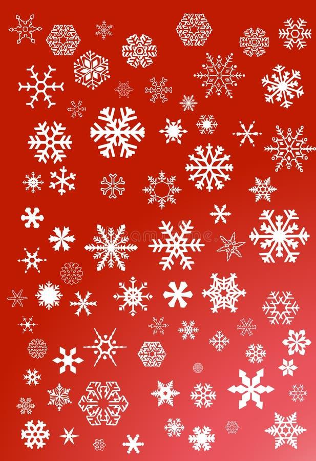 płatek śniegu biały ilustracja wektor