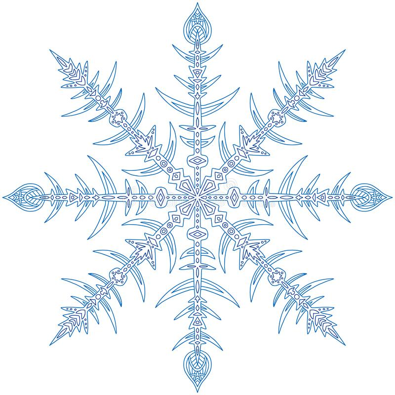 Płatek śniegu Bożych Narodzeń Illusration śliczny Chwilowy
