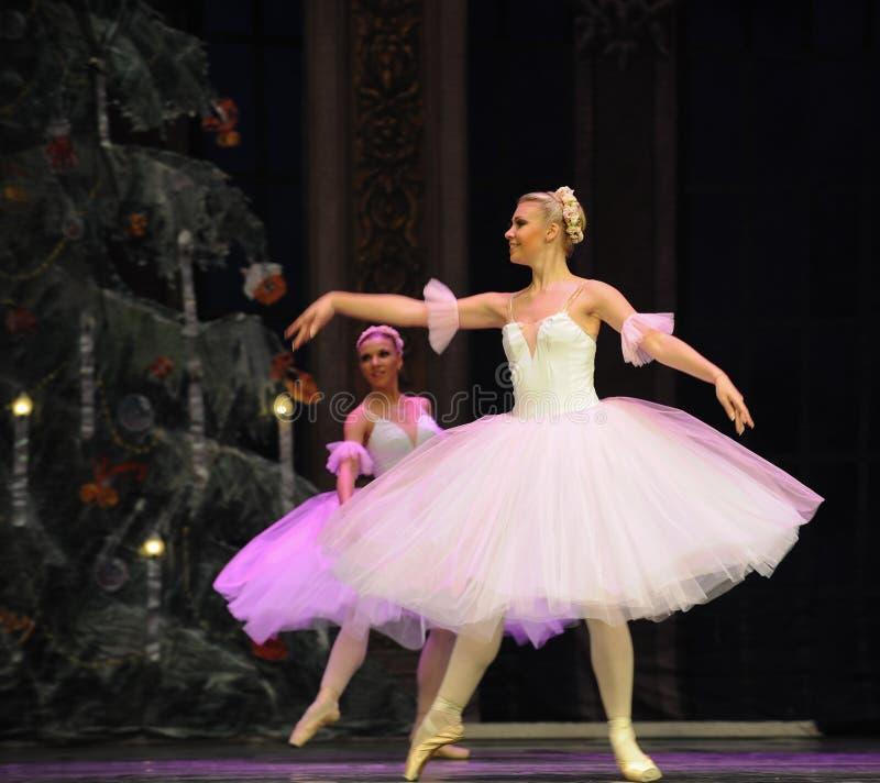 Płatek śniegu dziewczyny baleta dziadek do orzechów zdjęcia royalty free