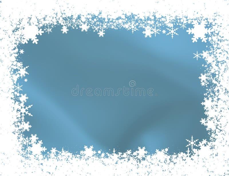 Płatek śniegu Granica royalty ilustracja