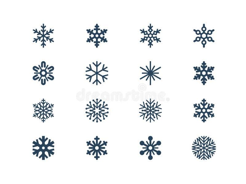Płatek śniegu ikony royalty ilustracja