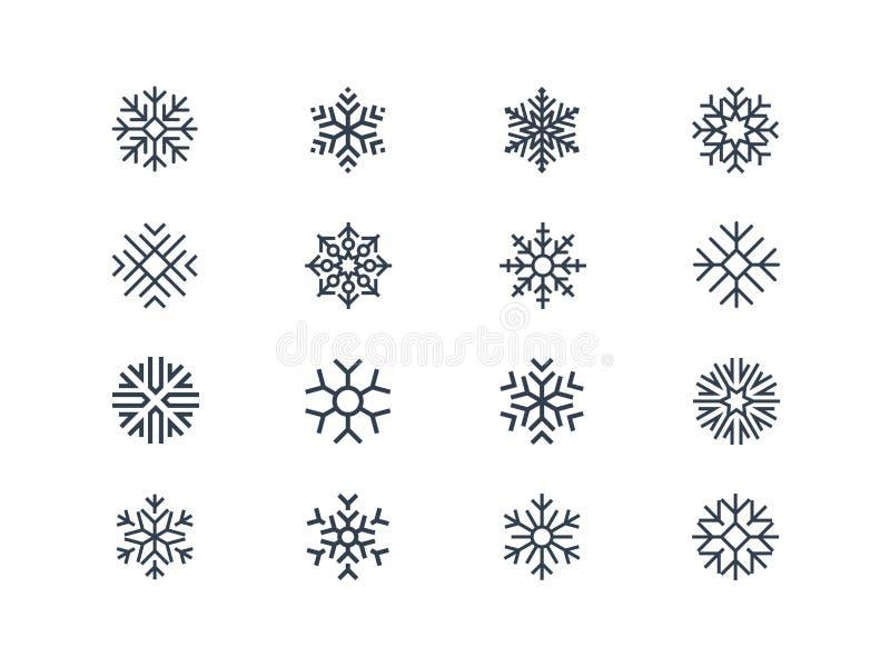Płatek śniegu ikony ilustracja wektor