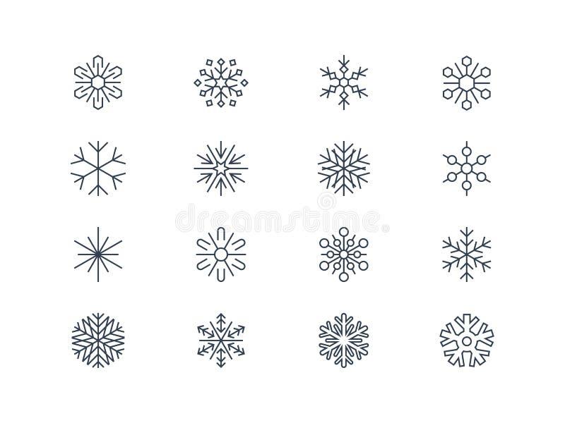 Płatek śniegu ikony 3 royalty ilustracja