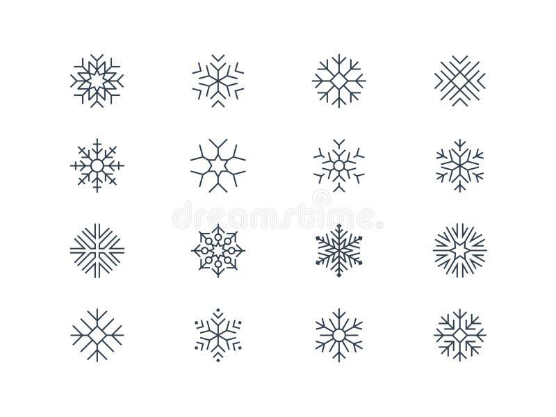 Płatek śniegu ikony 5 royalty ilustracja
