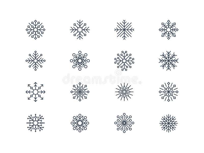 Płatek śniegu ikony 4 royalty ilustracja