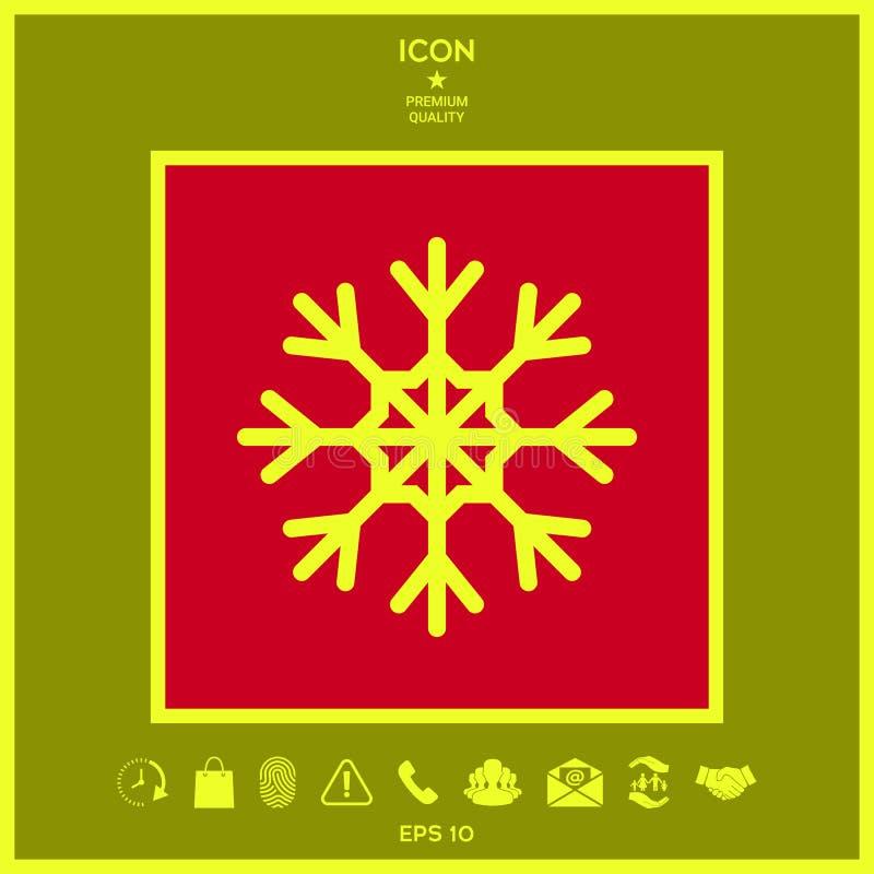 Płatek śniegu ikony symbol ilustracja wektor
