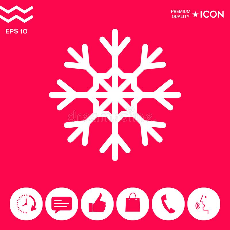 Płatek śniegu ikony symbol ilustracji