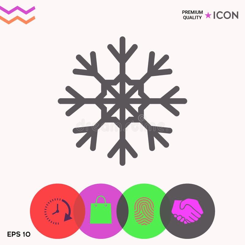 Płatek śniegu ikony symbol royalty ilustracja