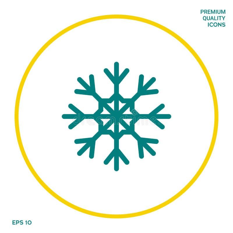 Płatek śniegu ikony symbol Graficzni elementy dla twój projekta ilustracji