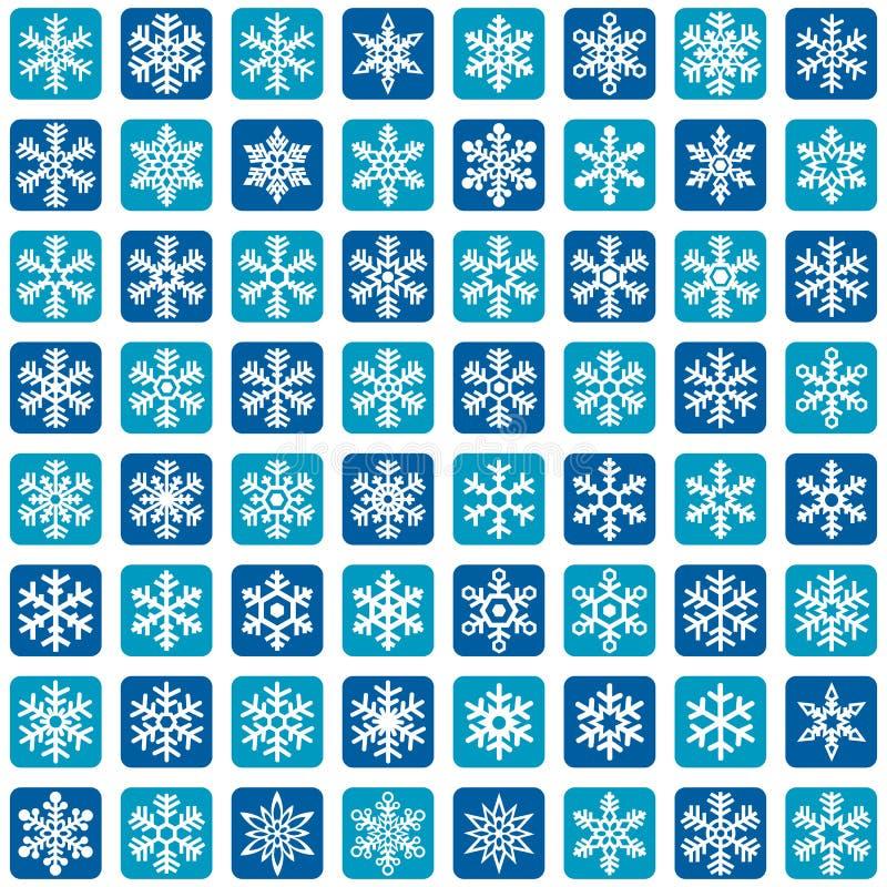 Płatek śniegu ikony Wektorowy set royalty ilustracja