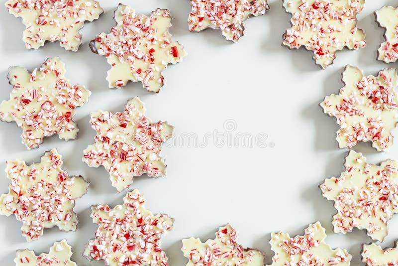 Płatek śniegu kształtujący miętówki barkentyny cukierki obrazy stock