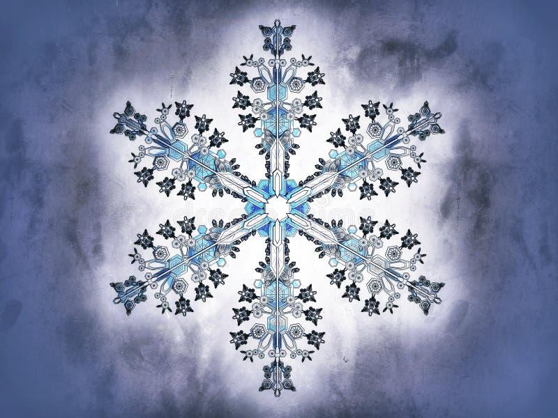 Płatek śniegu na błękitnym tle royalty ilustracja