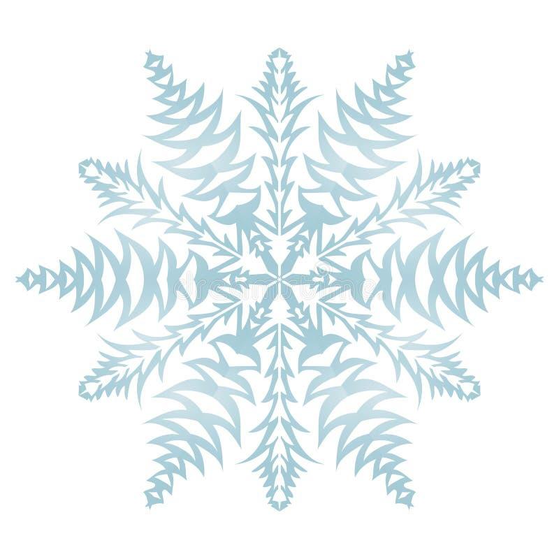 Płatek śniegu na białym tle obrazy royalty free