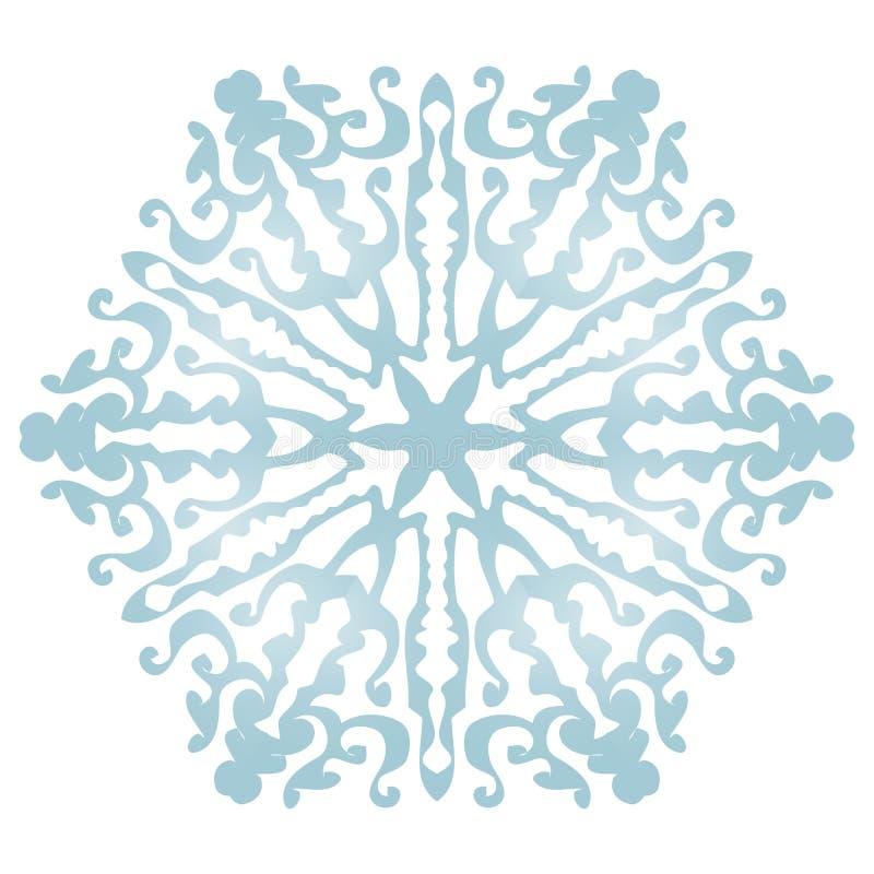 Płatek śniegu na białym tle zdjęcie stock