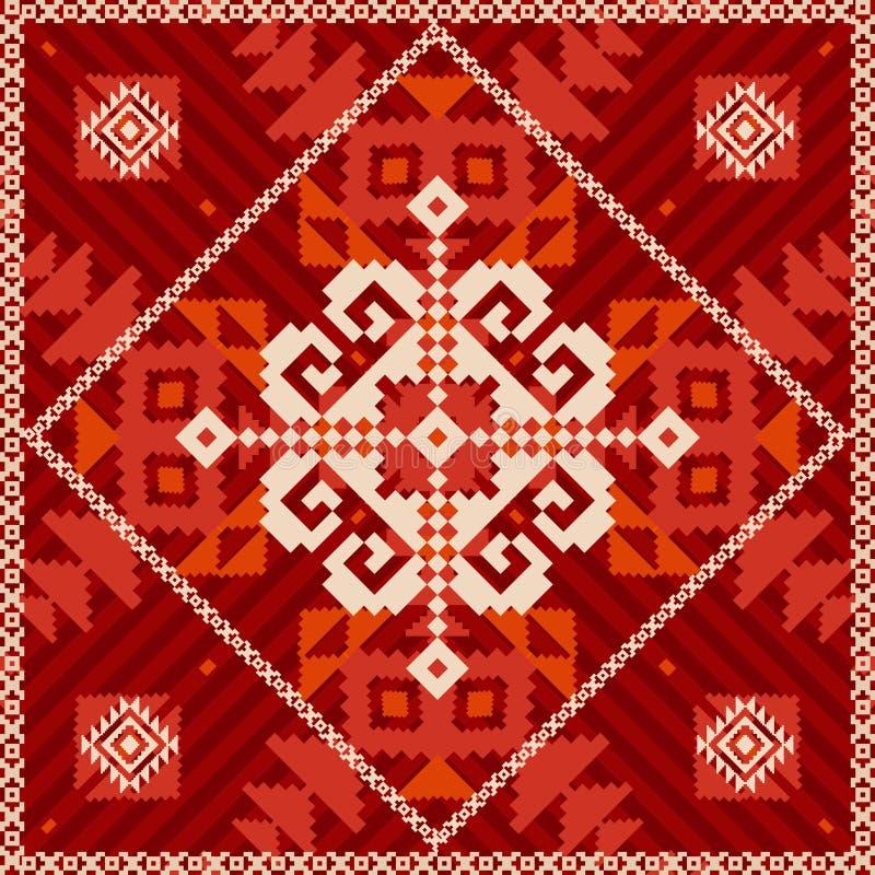 Płatek śniegu ornament w etnicznym stylu ilustracji